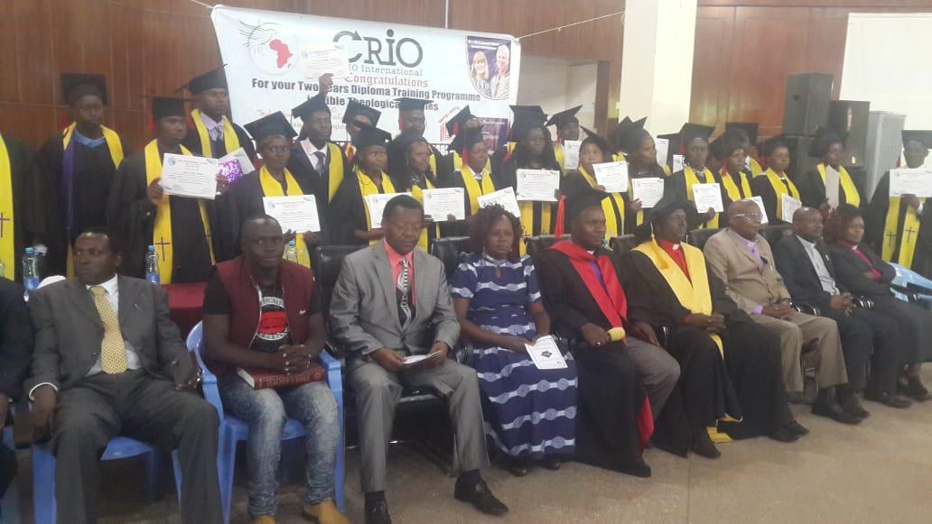 Bishop Muli leading CRIO bible college graduation ceremony