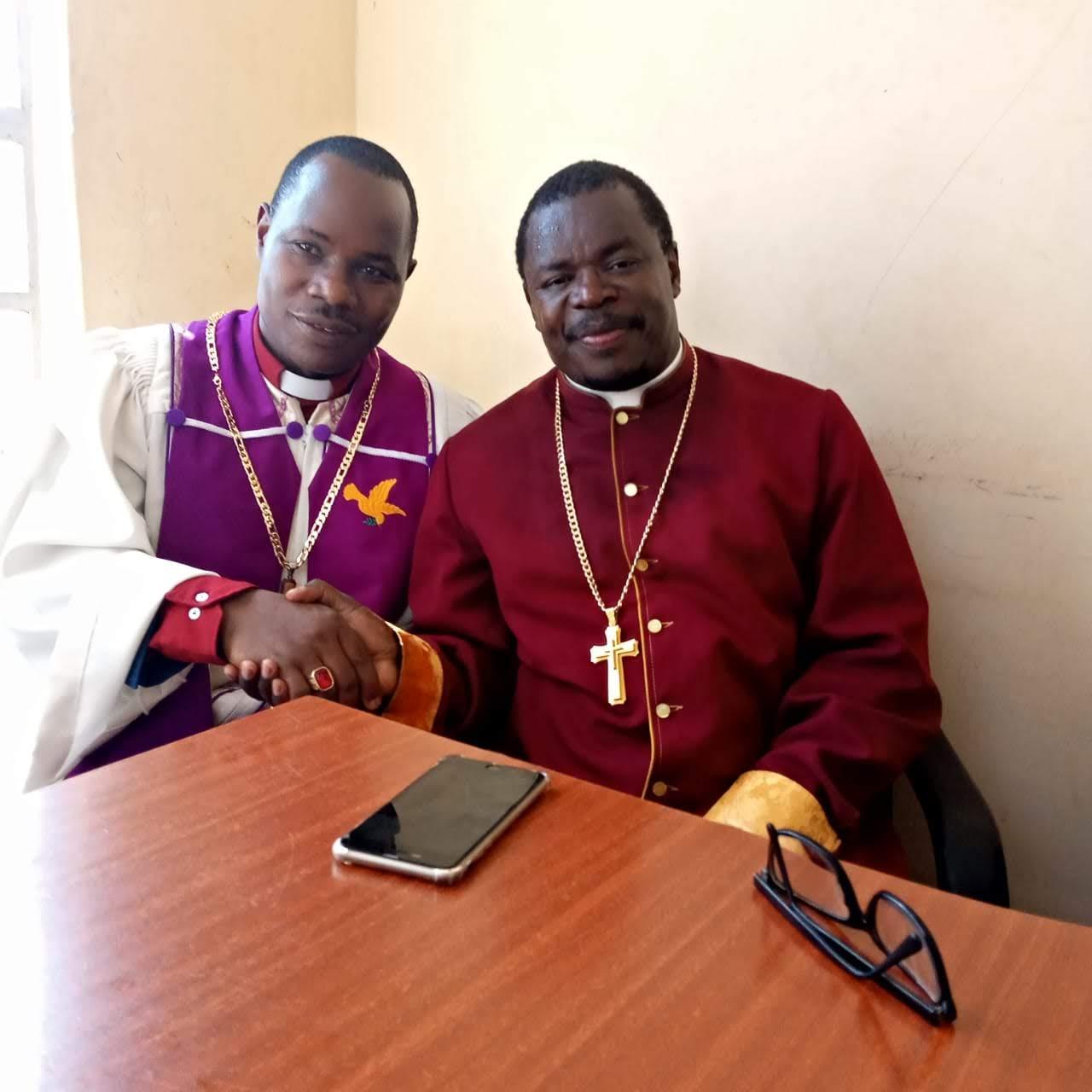 Bishop Muli in consultative meeting with Bishop Jonah obonyo of Praise cathedral ministry